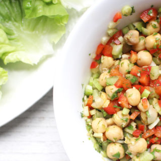 The perfectly crunchy salad that can be served by itself, in lettuce wraps, or with chips!
