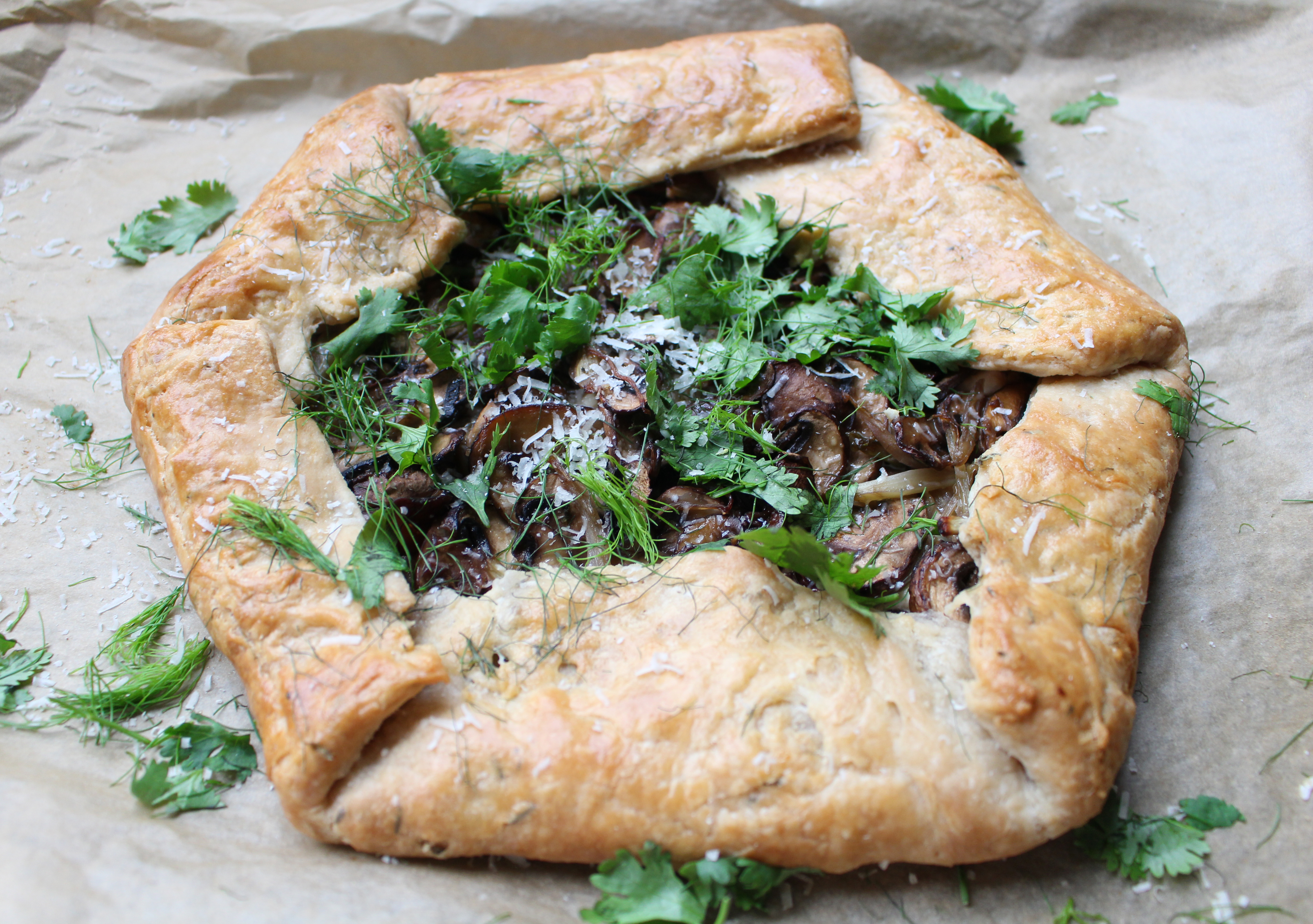 The fluffiest, flaky crust stuffed with ricotta, mushrooms, and fennel. This galette is beautiful and surprisingly simple!