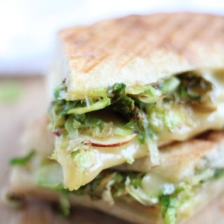 Grilled cheese taken to the next level with brussels sprouts and apples - perfect for fall!