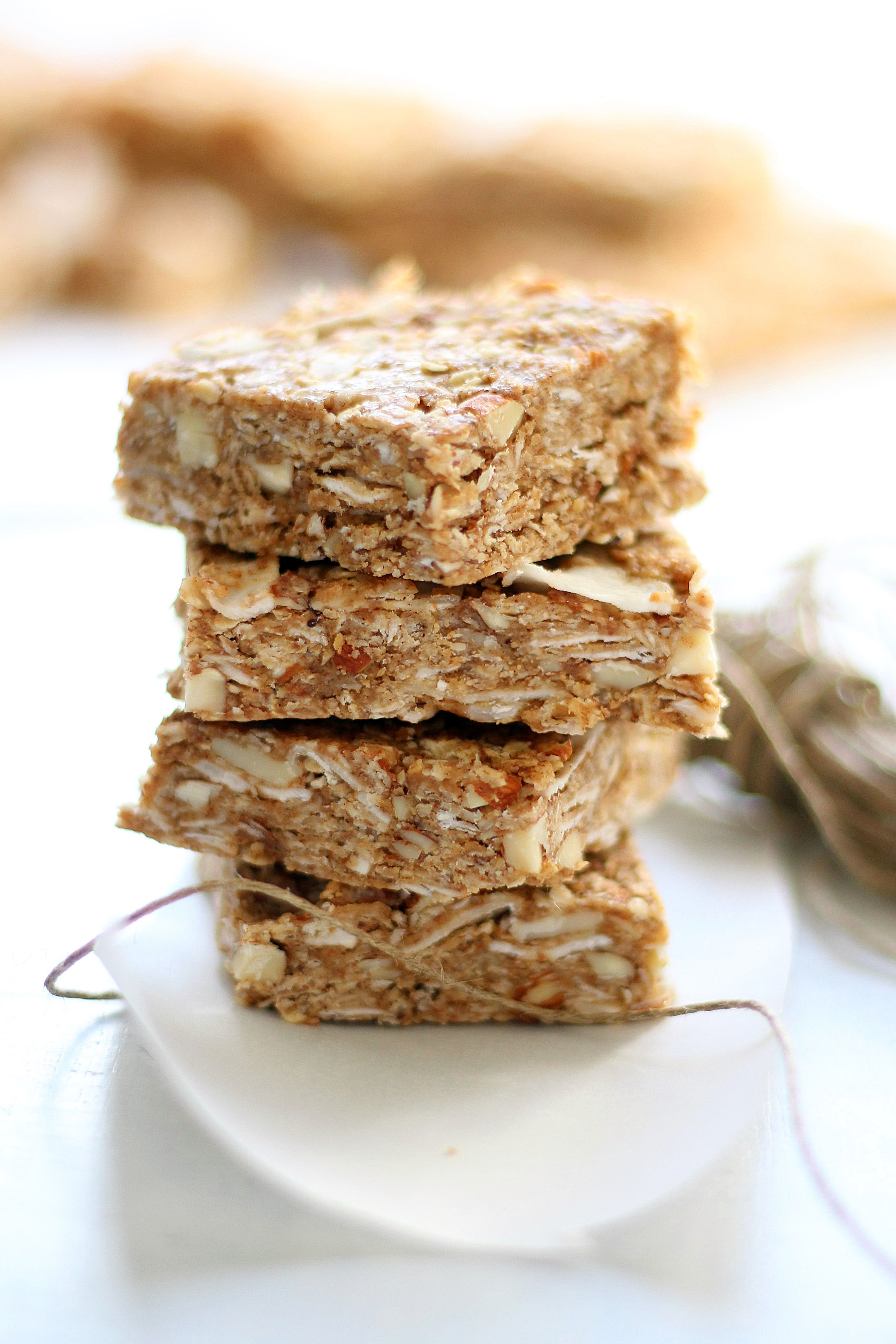 No Bake Chai Spiced Almond Granola Bars