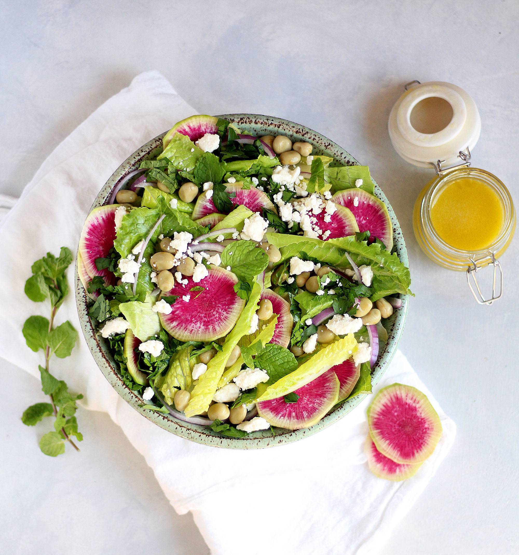 What salads can be prepared with radishes