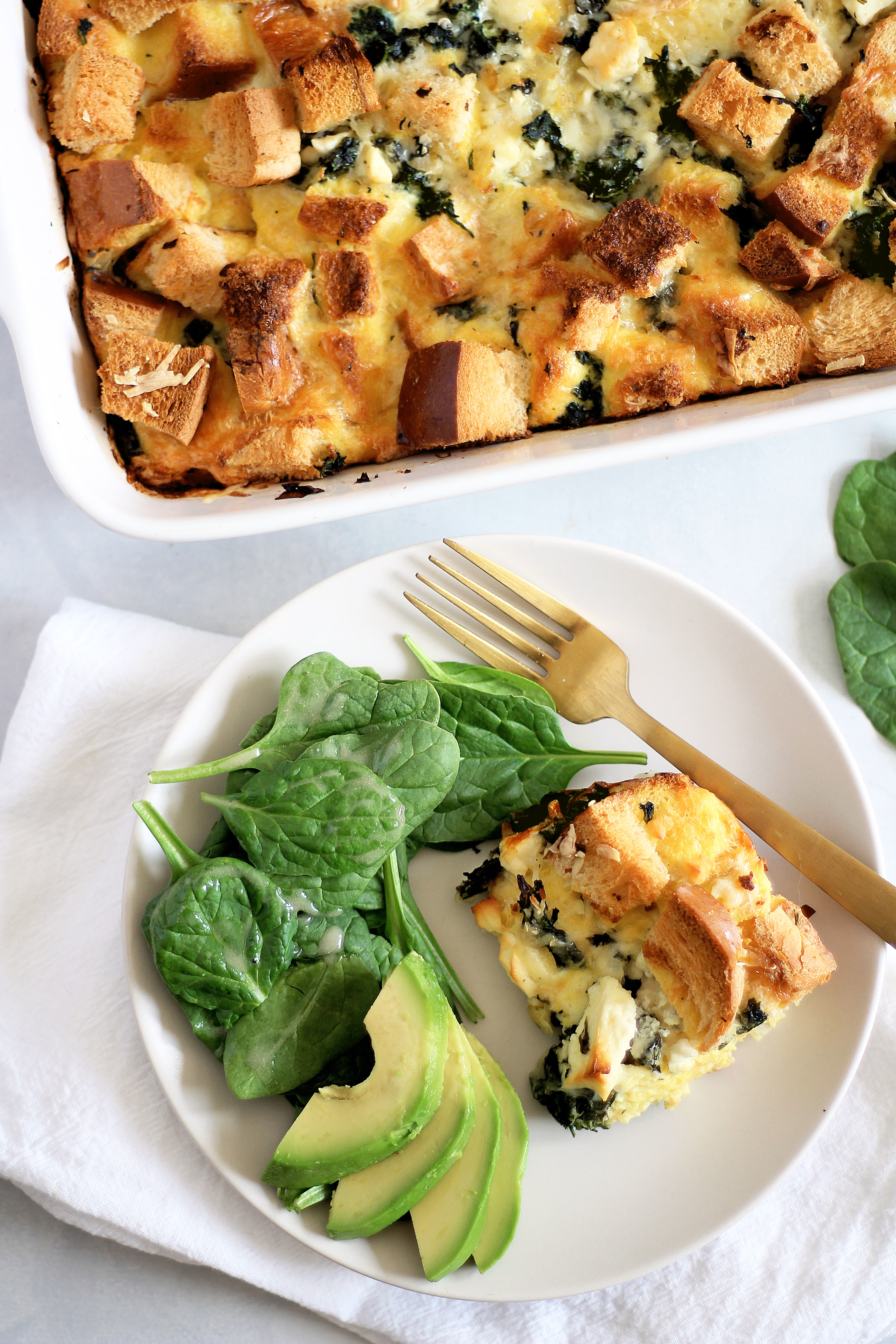 Spinach and Feta Strata