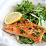 Pan Seared Salmon with Fennel Arugula Salad